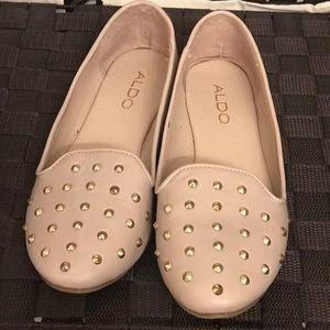 Aldo flats nude with gold dots worn twice.